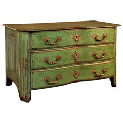 French 18th Century Louis XIV Commode in Painted Wood