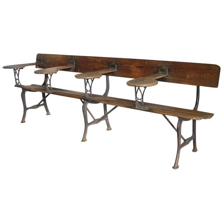 Antique American School Bench