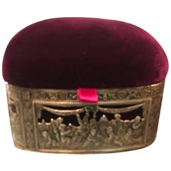 Continental Silver and Velvet Trinket Box