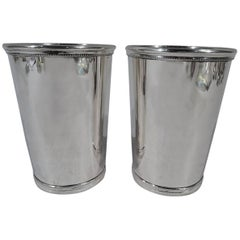 Pair of Rare Tiffany Sterling Silver Mint Juleps