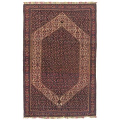 Fine Antique Persian Senneh Rug with Colorful Silk Foundation