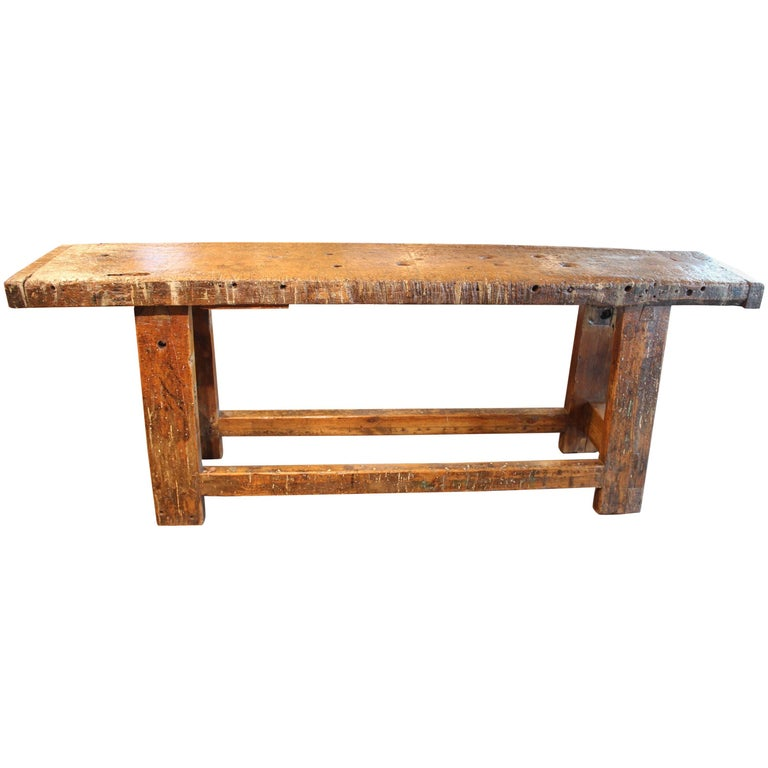 Vintage French Artisans Work Table
