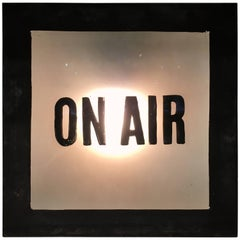 Vintage 'On Air' Radio Station Sign