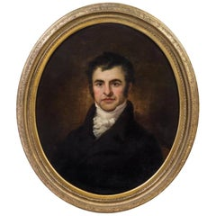 Artist Unknown 19th Century Portrait of Robert Burns Oil on Canvas