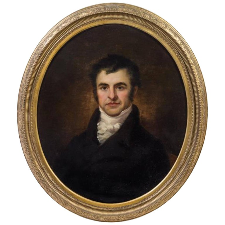 Artist Unknown 19th Century Portrait of Robert Burns Oil on Canvas 1