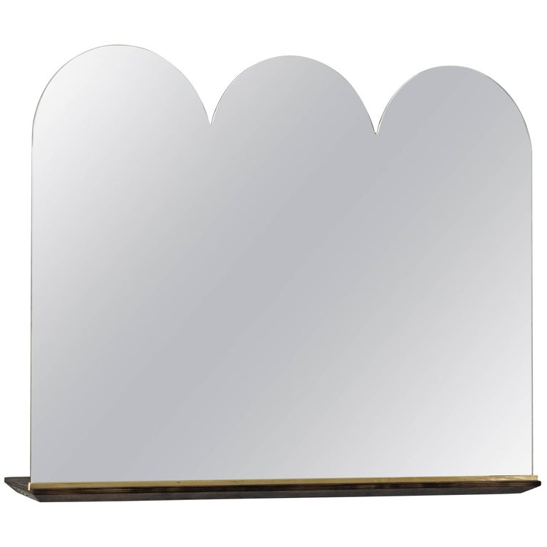 Propped Vanity Mirror by Phaedo, Scalloped
