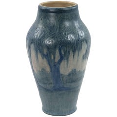 Newcomb Vase Decorated with Moss Laden Trees by Anna F. Simpson