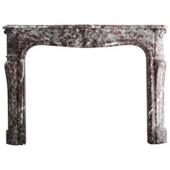 Antique Marble Fireplace, 19th century, Louis XV