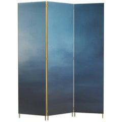 Blauer handbemalter Raumteiler - Jan Garncarek