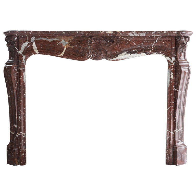 Antique Marble Fireplace, 19th century, Louis XV For Sale