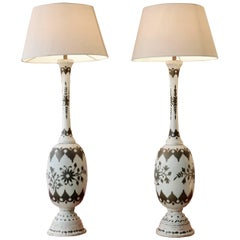Pair of Iron Sheet Table Lamps