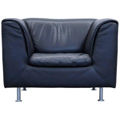 Willi Schillig Designer Armchair Leather Anthrazit Black One-Seat Couch