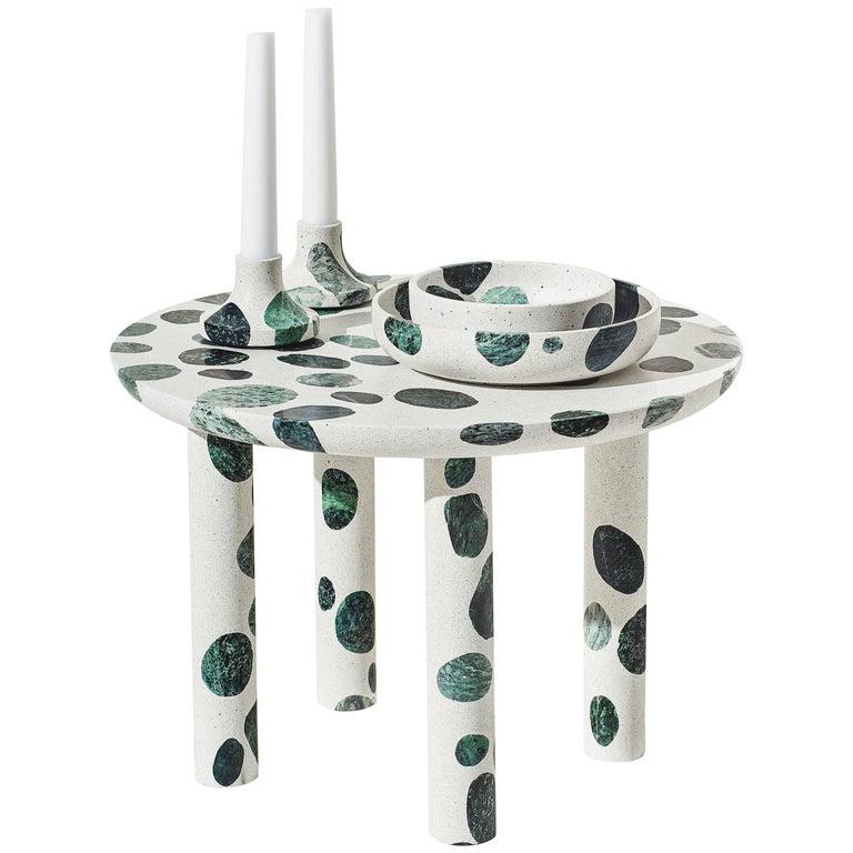 Contemporary Collecta Circular Coffee Table or Side Table In Terrazzo