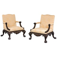 A Pair of 19th Century Gainsborough Armchairs