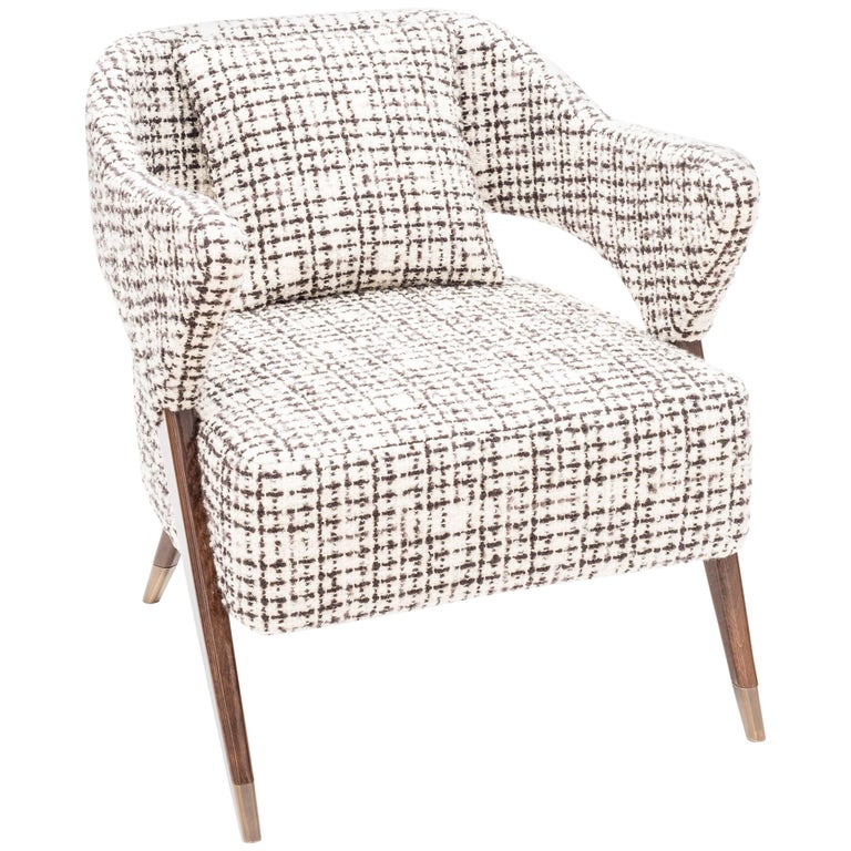 "Italian Design ""Monique"" Armchair, Midcentury Style For Sale"