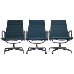 1 of 3 Charles Eames by Vitra EA 116 Hopsack Swivel Lounge Armchair