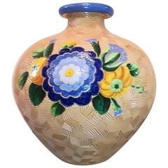 Vase 'Pot' 1930, Multi-Color Round Shape, Majolica, Giò Ponti