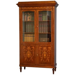 Turn of the Century French Bookcase in Mahogany