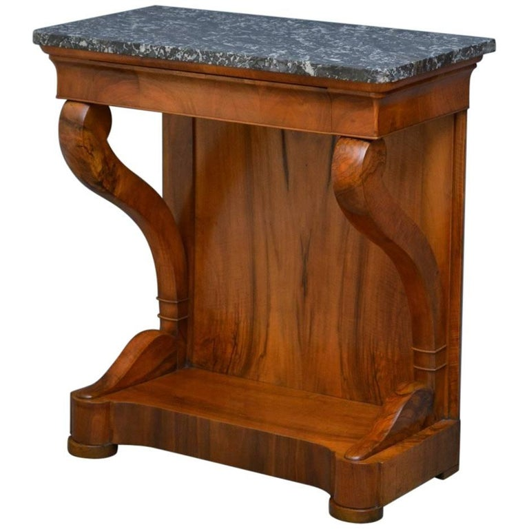 Louis philippe walnut console table for sale at 1stdibs for Table louis philippe