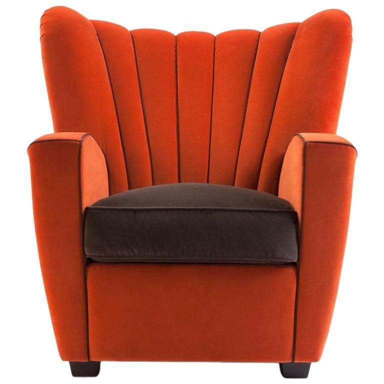"""""""Zarina"""" Fabric Armchair Designed by Cesare Cassina, Adele-C"""