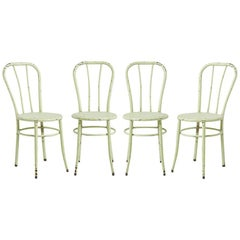Set of Four Mint Green William V. Willis Operating Room Chairs, circa 1910s