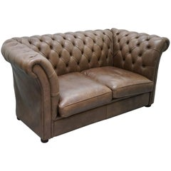 Rare Handmade Chesterfield Very Tall Club Sofa Luxury Leather