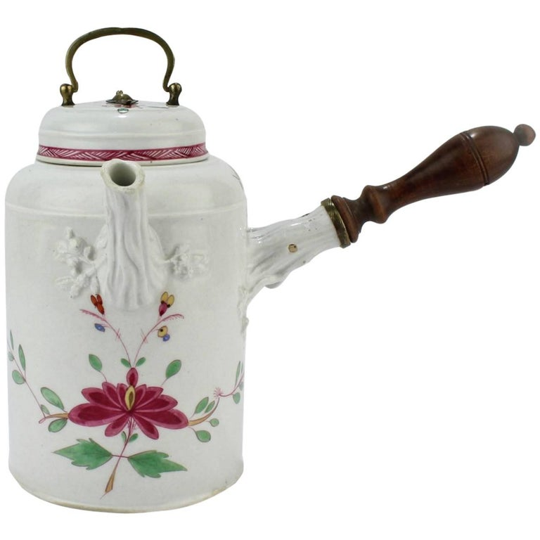 Antique 18th Century Marcolini Period Meissen Porcelain Chocolate Pot