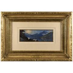 """Moonlite on Silver Lake, Cottonwood Canyon, Utah"" by Alfred Lambourne"