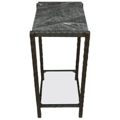 Hand-Forged Steel and Granite Side Table by Gregory Clark