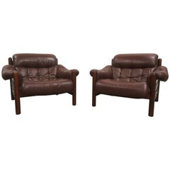 Pair of Göte Möbler Swedish Lounge Chairs