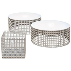 Set of Three Centerpieces by Josef Hoffmann for Bieffeplast