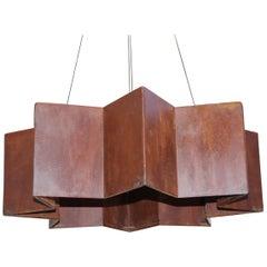 Italian Rust Finish Hanging Fixture Designed by Brendan Bass