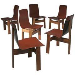 "Set of Six Chairs ""3 Tre"" by Angelo Mangiarotti for Skipper"