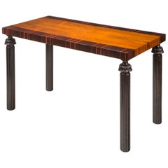 Reiners Möbelfabrik, A Swedish Macassar, Palisander and Ebonized Birch Table