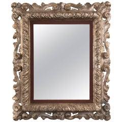 Italian Baroque Silvered Mirror, Possibly Florentine