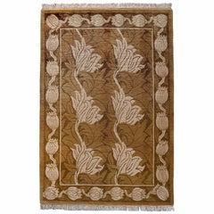 Gold Floral Rug