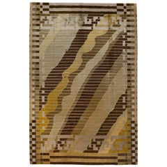 Gold Abstract Rug