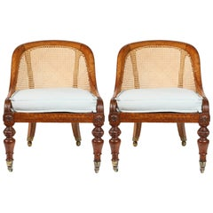 19th Century Pair of English Caned Spoon-Back Chairs
