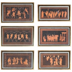 18th Century Set of Six Printed Engravings of Classical Motifs