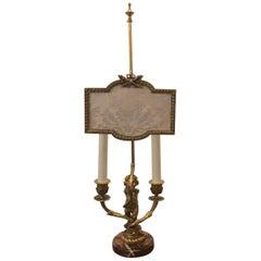 Gilt Bronze French, 19th Century Candelabra Lamp