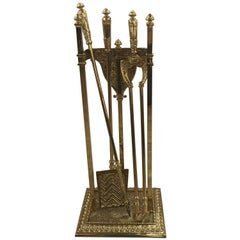 English Fireplace Stand with Tool Set