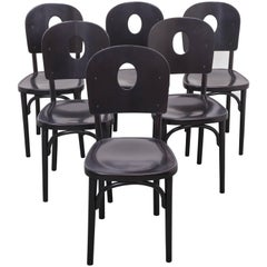 Six Jacob & Josef Kohn Bird Cage Chairs, for Thonet