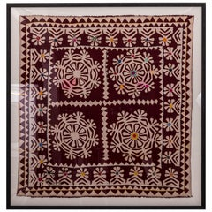 Framed Antique Hand Patchwork from India
