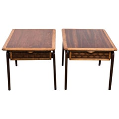 Pair of Warren Church End Tables for Lane, Perception Collection