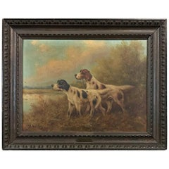 19th Century Framed Oil Painting on Canvas by Paul Schouten