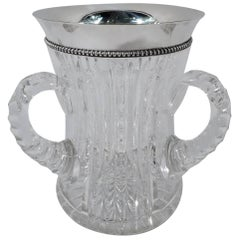 American Brilliant-Cut Glass and Sterling Silver Loving Cup by Wilcox