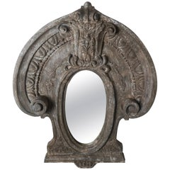 Swedish Carved Painted Mirror