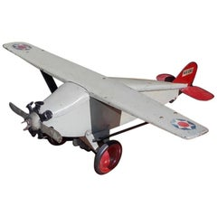 American Painted Steel Toy Airplane Model, Steel Craft Murray, Circa 1920s