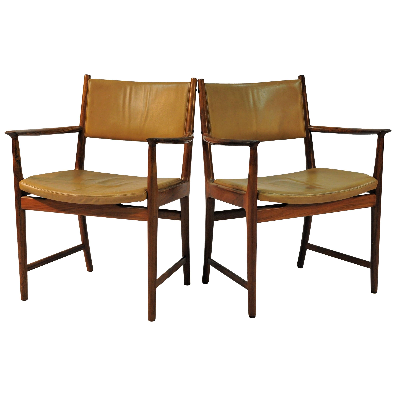 1960s Kai Lyngfeldt Larsen Set of Two Rosewood Armchairs by Soren Willadsen