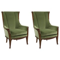 "Pair of ""Aux Fougères"" Armchairs by Majorelle"